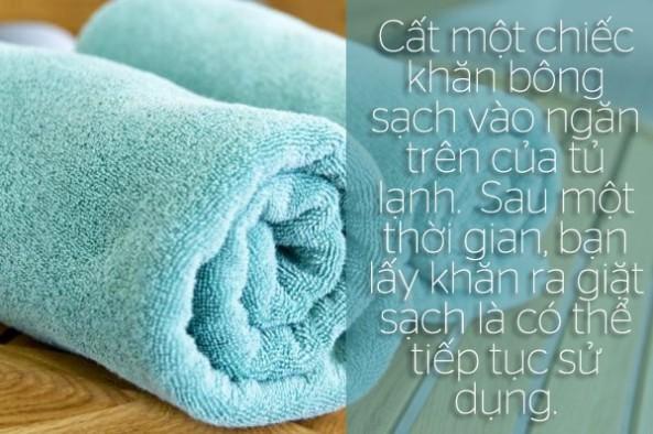 Khử mùi tủ lạnh bằng khăn bông | Siêu thị điện máy Viettronimex